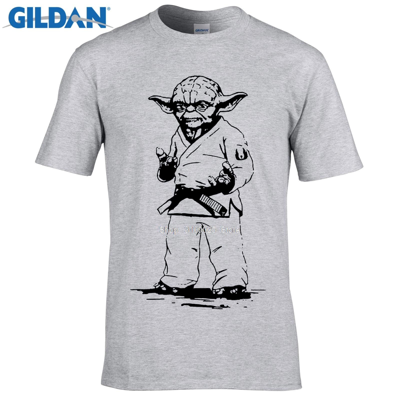 Gildan Designer T Shirt Star Wars Yoda Judo Jiu Jitsu T Shirt Top