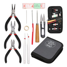 Jewelry Tool Set Jewellery Plier Beading Tool Kit Bead Jewelry Making Bead Work Tools Beaders Package DIY Accessories Kit 4pcs diamond pearl glass bead reamer burr beading hole enlarger tool set diy new