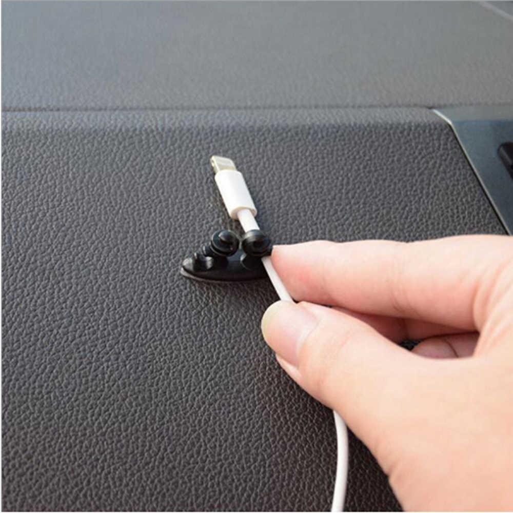 8 個車の充電器ラインクランプクランプヘッドホン/USB ケーブルクリップシボレークルーズ Niva Aveo Epica ラセッティ captiva オニキスプリズマ