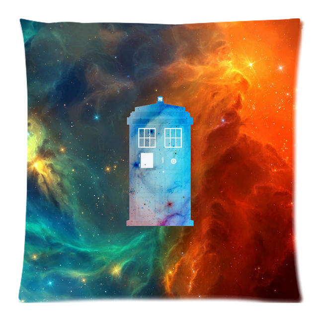 45x45cm Doctor Who Tardis Polyester Cushion Cover Decorative Two Side Print  Throw Pillows Case For Sofa