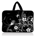 "Black and White Design Sleeve Case Bag Cover +Handle For 7"" inch Barnes & Noble NOOK Tablet PC"