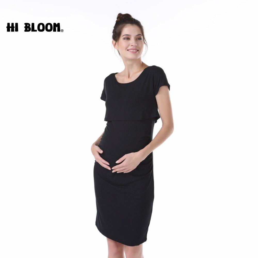 7d045c64865a2 Elastic Tencel Summer Elegant Office Lady Vestidos Loose Maternity Dresses  Pregnancy Clothes No Nursing Dress for Pregnant Women-in Dresses from  Mother ...