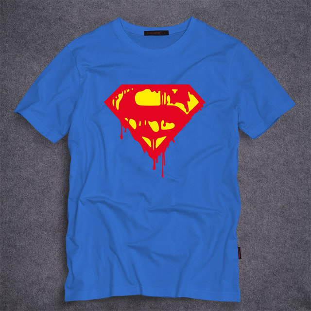 Superhero Superman T Shirts Mens Summer Cotton Shirts DC Comic Clothing  Superman Cosplay T-shirt Men Boy Fashion Tee Tops 777f27514b