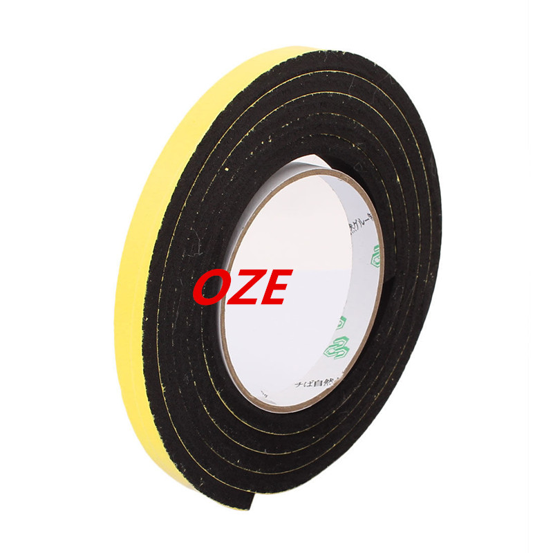1PCS 12mm x 6mm Single Sided Self Adhesive Shockproof Sponge Foam Tape 2M Length 1pcs single sided self adhesive shockproof sponge foam tape 2m length 6mm x 80mm
