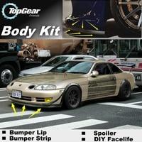 Bumper Lip Deflector Lips For Lexus SC 300 400 430 1991~2010 Front Spoiler Skirt For TopGear Fans Car Tuning / Body Kit / Strip