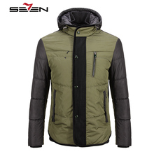 Seven7 Brand Winter Warm Casual Mens Jackets And Coats Thick Parka Men Outwear Cotton Military Parka