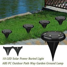 10 светодиодный подземный светильник на солнечной батарее s ABS+ PC, светильник на солнечной батарее, напольный светильник, водонепроницаемый IP67, уличный садовый светильник для газона, наземный светильник s