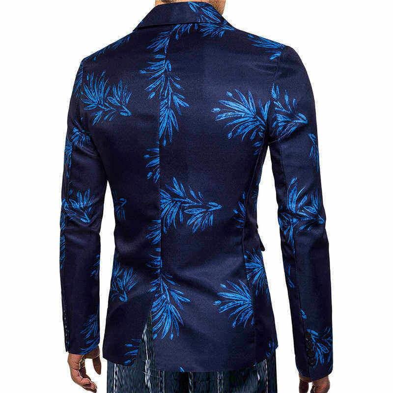 Fashion Men Autumn Winter Leopard Printed Long Sleeve Coat Outwear Top Blouse Offices Classic Suit Formal Jacket Man L15# (6)