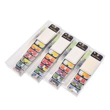 Multiple Colors Watercolor Paint Set Optional Portable Solid Paintbrush Pigment for Painting Art Supplies