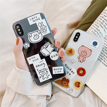 Candy cute lucky pig case for iPhone XS Max XR X 6 6S 7 8 Plus colorful women transparent cover anime clear silicon soft fundas