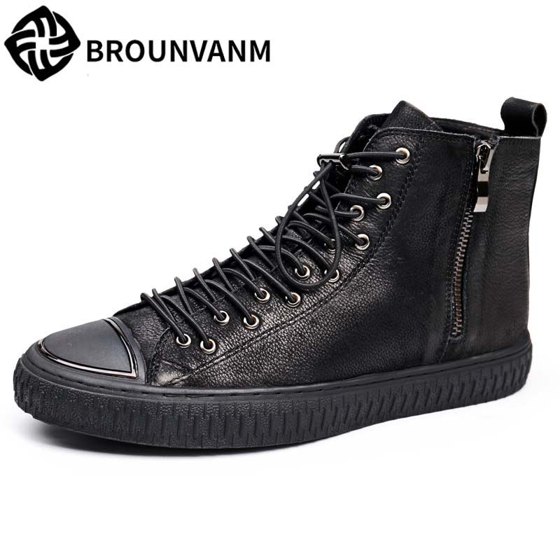 2017 new autumn winter British retro men shoes boots casual leather fashion British style elastic shoes men's shoes boots 2017 new autumn winter british retro men shoes zipper leather shoes breathable sneaker fashion boots men casual shoes