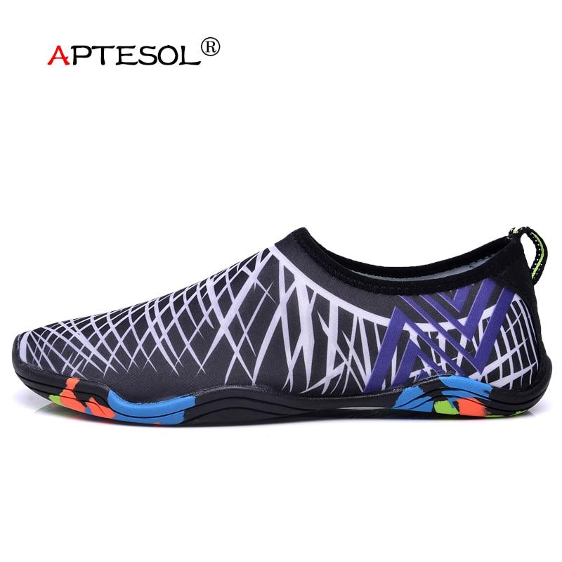 APTESOL Для женщин Для мужчин быстро сухой Быстросохнущие кроссовки унисекс летние плавательные кожи водонепроницаемая обувь пляж Приморский... ...