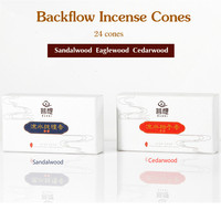 Backflow incense 24 cones.Quality sandalwood,cedarwood seed,eaglewood.Perfect for home use.