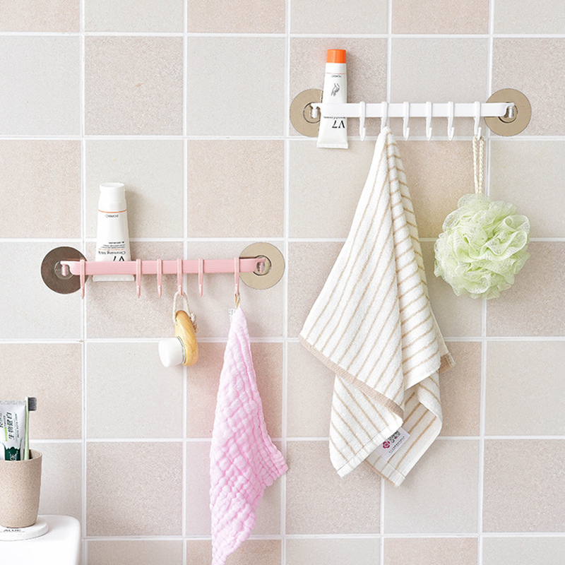 Qianyun Sticky Holder Housekeeper On Wall Home Storage Organization Hooks For Shower Curtain Transparent Suction Cup Sucker Wall