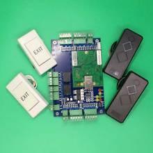 TCP/IP панель управления доступом к сети 125 кГц считыватель кнопка выхода для использования двух дверей
