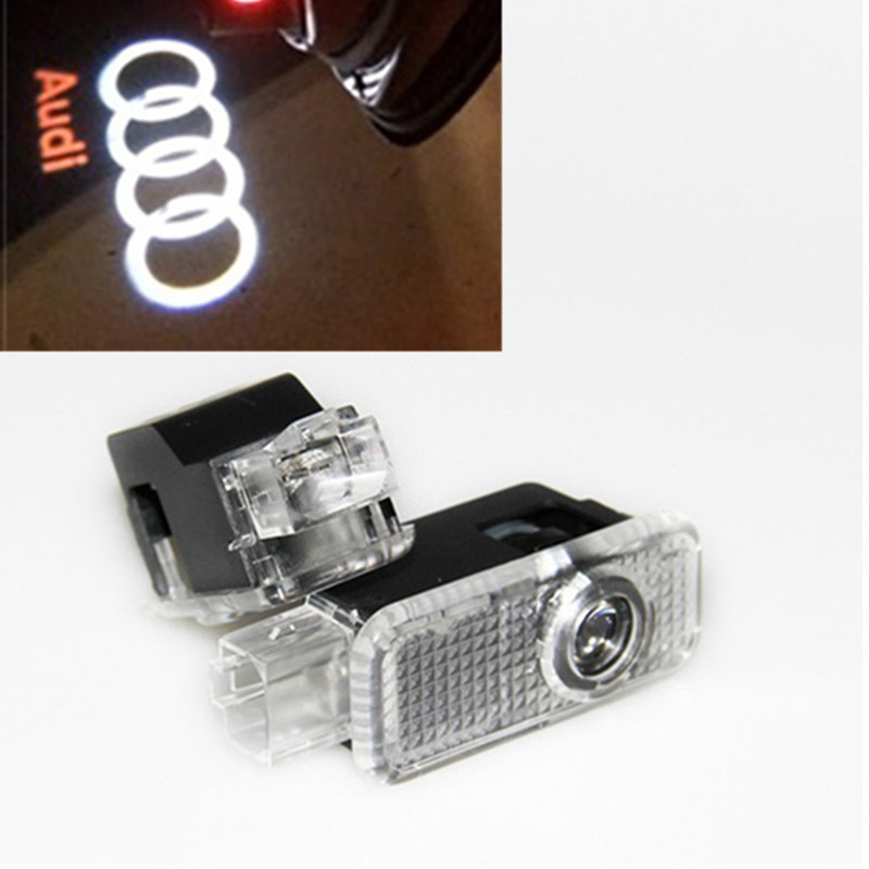 Car LED Courtesy Door Projector Logo Light For Audi A6 C5 C6 A4 B6 B8 80 A1 A8 TT Q7 Q5 Q3 A3 A5 A7 R8 RS S line S3 S4 B5 B7 S5