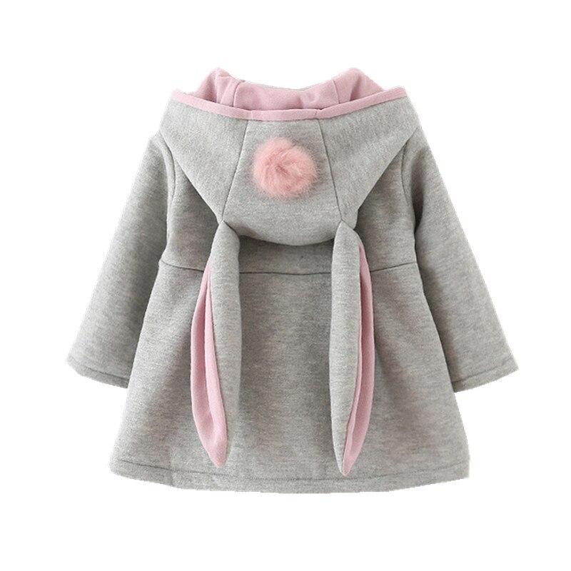 New hooded coat for girls animal rabbit design cotton baby girl ...