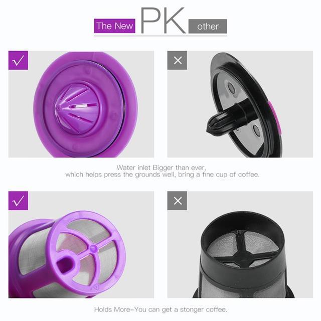 Cápsulas de café copo para k copo filtros de café recarregáveis malha de aço inoxidável para keurig 2.0 acessórios da máquina de café
