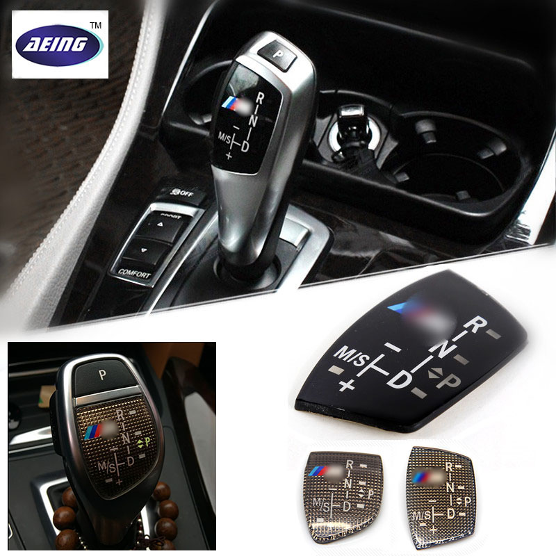 AEING 3D ABS M Motorsport Gear Shift Knob Sticker Cover For BMW X1 X3 X5 X6 M3 M5 325i 328 F30 F35 F18 F20 F21 GT 3 5 6 7 Series