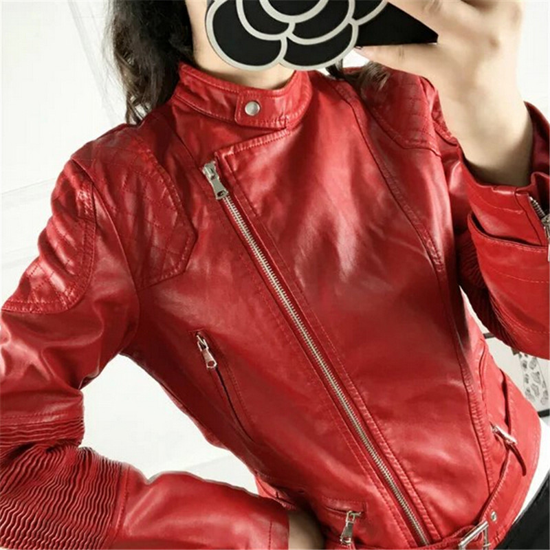 Online Get Cheap Red Leather Jacket Women -Aliexpress.com ...