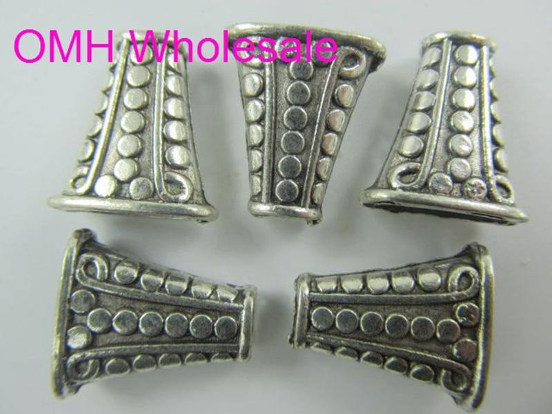 df71debdae4f OMH por mayor 50g 12 unids 18x13mm retro de plata tibetana accesorios de  joyería aleación de zinc tapas para pulsera PJ253