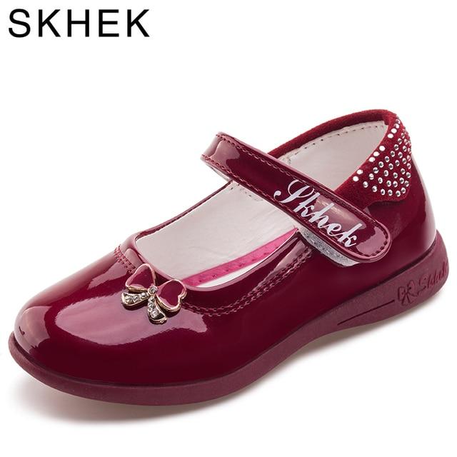 ילדה נעלי ילדי נעלי Bowknot Chaussure enfant נסיכת פטנט עור בנות נעלי ילדי נעל נעלי ילדים ילד.