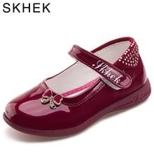 Fille Chaussures Bowknot  Princesse En Cuir Verni Sneaker chaussures enfants