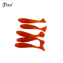 5Pcs 5cm 2.2g T Tail Red Maggot Soft Worm Fishing Lure River Lake Stream Freshwater Tackle Accessories