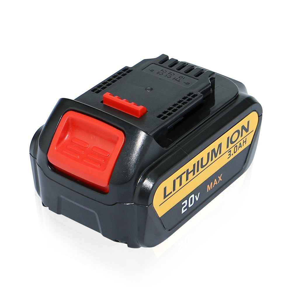 ФОТО 1 pc Replacement Battery For Dewalt 20V 20 Volt Max 3.0Ah Lithium Ion Battery Pack With Fuel Gauge For DCB180 DCB181 D