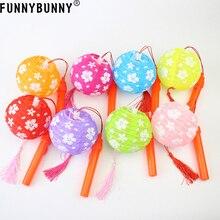 FUNNYBUNNY Childrens luminous portable lanterns small gifts handheld cherry blossom mini