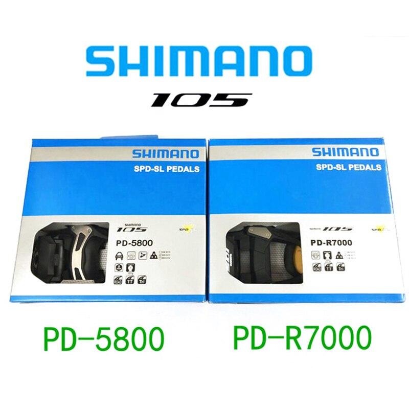 Shimano pédale de bicyclette 105 PD R5800 R7000 piste cyclable SPD pédale auto-verrouillage pièces en utilisant Racing SH11 plaque de protection vélo pièces