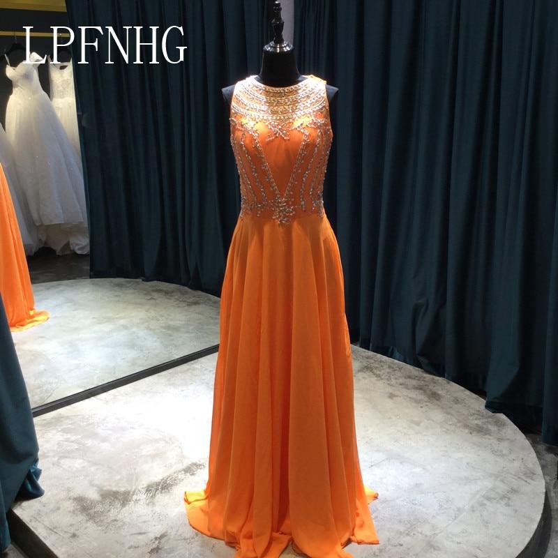 Long A-line Șifon rochii de domnisoare de onoare 2017 Scoop Mănuși - Rochii de seară de nuntă - Fotografie 1