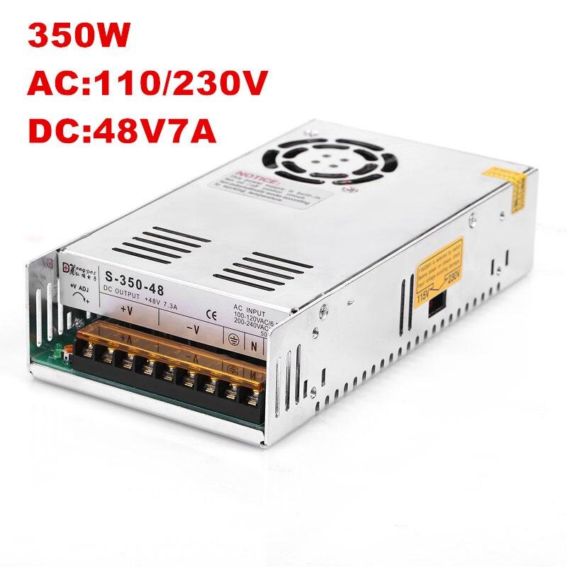 20 pièces 350 W 48 V alimentation à découpage pour 48V7. 5A LED bande de lumière économique type DC48V S-350-48