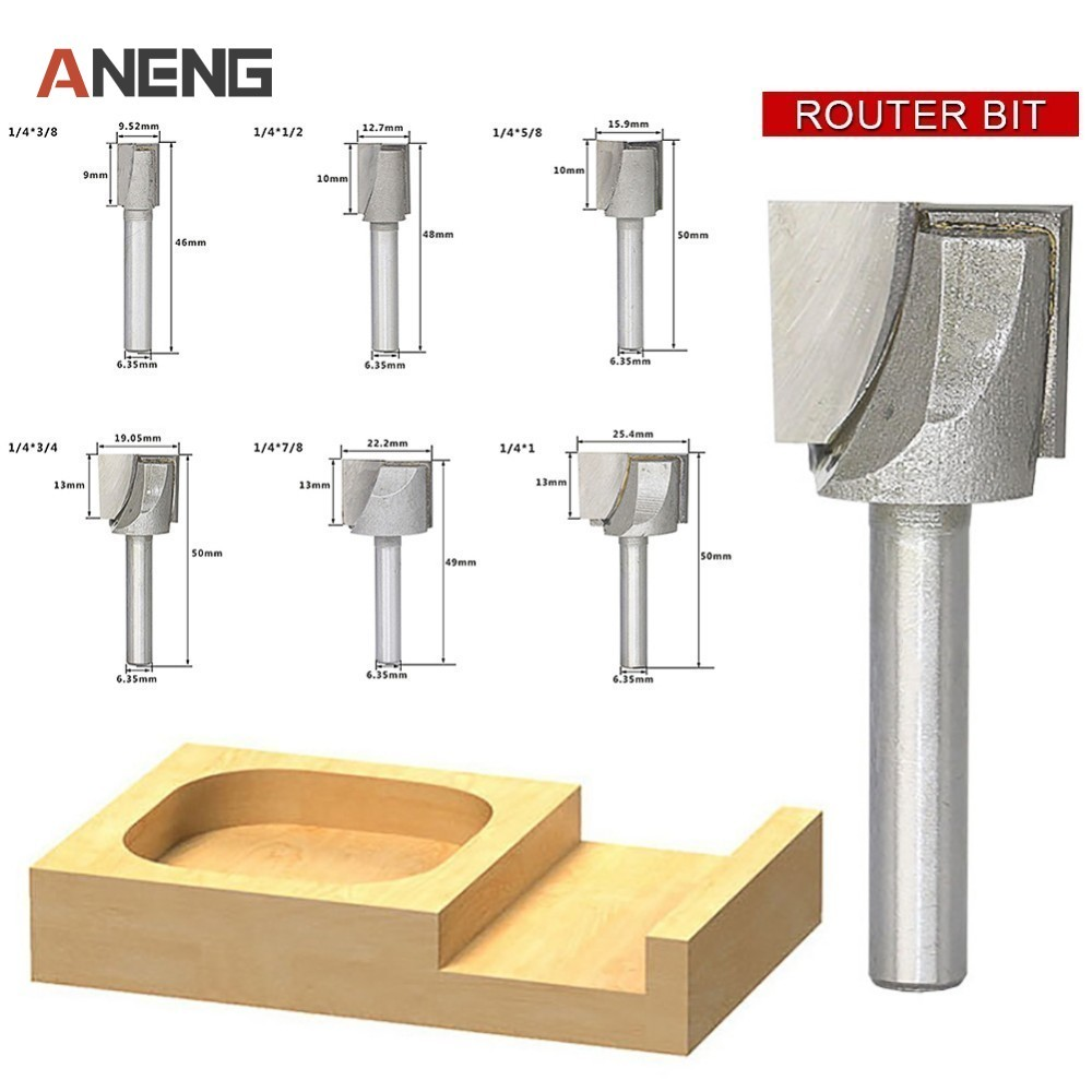 1pc 1/4 Shank 2 Flute Straight Bit Woodworking Tools Router Bit For Wood Carbide End Mill Milling Cutter high quality wood milling cutter biscuit jointing router bit carbide tipped 1 2 shank woodworking router bits carbide end mill
