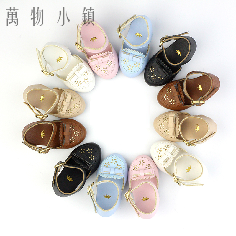 NEW 1/6 BJD YOSD Doll Shoes 6 color ( Pink/Black/Blue/Coffee/White/Khaki) Lovely Hollow out Shoes new lovely girl pink white thick bottom shoes 1 3 dd sd bjd doll shoes