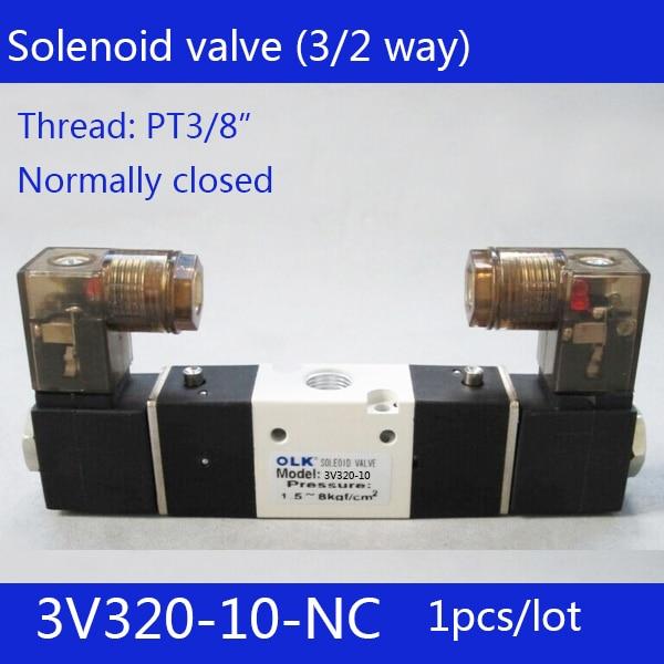 1pcs Free shipping 3V320-10-NC solenoid Air Valve 3Port 2Position 3/8 Solenoid Air Valve Single NC Normal Closed,Double control1pcs Free shipping 3V320-10-NC solenoid Air Valve 3Port 2Position 3/8 Solenoid Air Valve Single NC Normal Closed,Double control