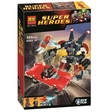 ela Batman Super Heroes Iron Man Detroit Steel Strikes Building Blocks Bricks Movie Model Kids Toys Marvel Compatible Legoings bela ninjagoed jay s elemental dragon building blocks sets bricks ninja movie classic model kids toys marvel compatible legoings