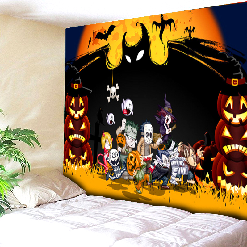 wall halloween tapestry beach cover up tunic tapestry wall hanging roomdorm rectangle home decor bat pumpkin