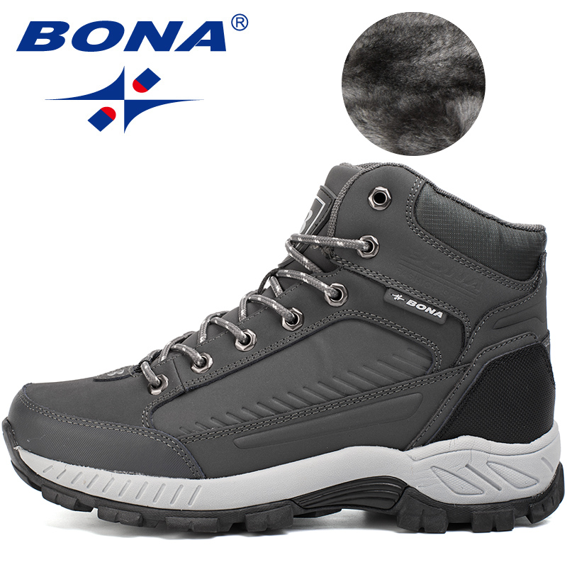 Image 5 - BONA New Popular Style Men Hiking Shoes Outdoor Walkng Jogging Trekking Sneakers Lace Up Climbing Boots For Men Free Shipping-in Hiking Shoes from Sports & Entertainment