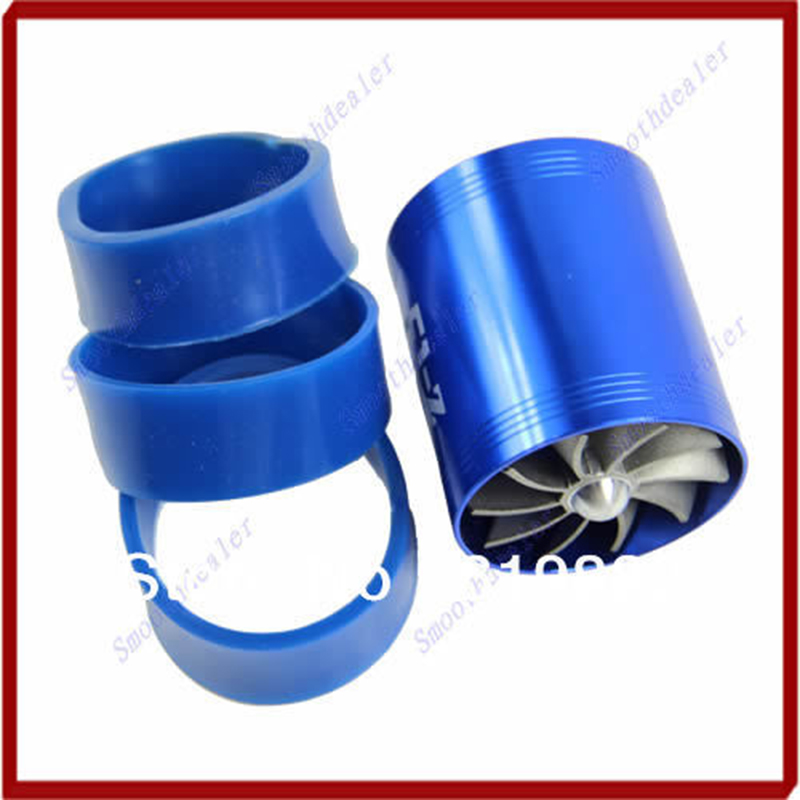 Prix pour A31 Vente Chaude Bleu F1-Z Double Supercharger Fuel Gas Saver Fan Universal Turbine Turb D'admission D'air