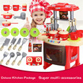 Cozinha toys beleza brinquedo de cozinha play set para crianças meninas toys crianças pretend play toys com efeito de som luz engraçado play