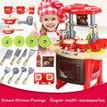 Kitchen toys belleza juguetes de cocina play set para niños chicas toys niños pretend play toys con claro efecto de sonido divertido play