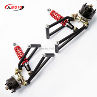 1Set 285mm Suspension Swing Upper/Lower A Arm Steering Knuckle Spindle with Drum Brake Wheel Hub Fit For Buggy ATV Bike Parts