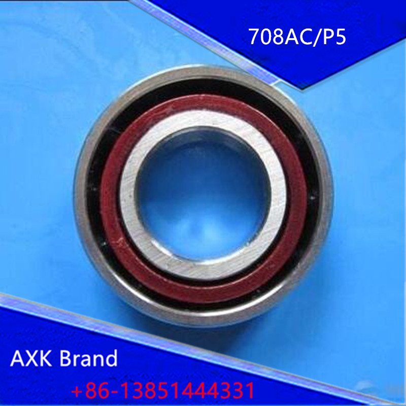 1PCS 8mm Spindle Angular Contact Ball Bearings 708C/P5 SUPER PRECISION BEARING ABEC-5 708 708C 708AC 8x22x7 gcr15 6326 zz or 6326 2rs 130x280x58mm high precision deep groove ball bearings abec 1 p0