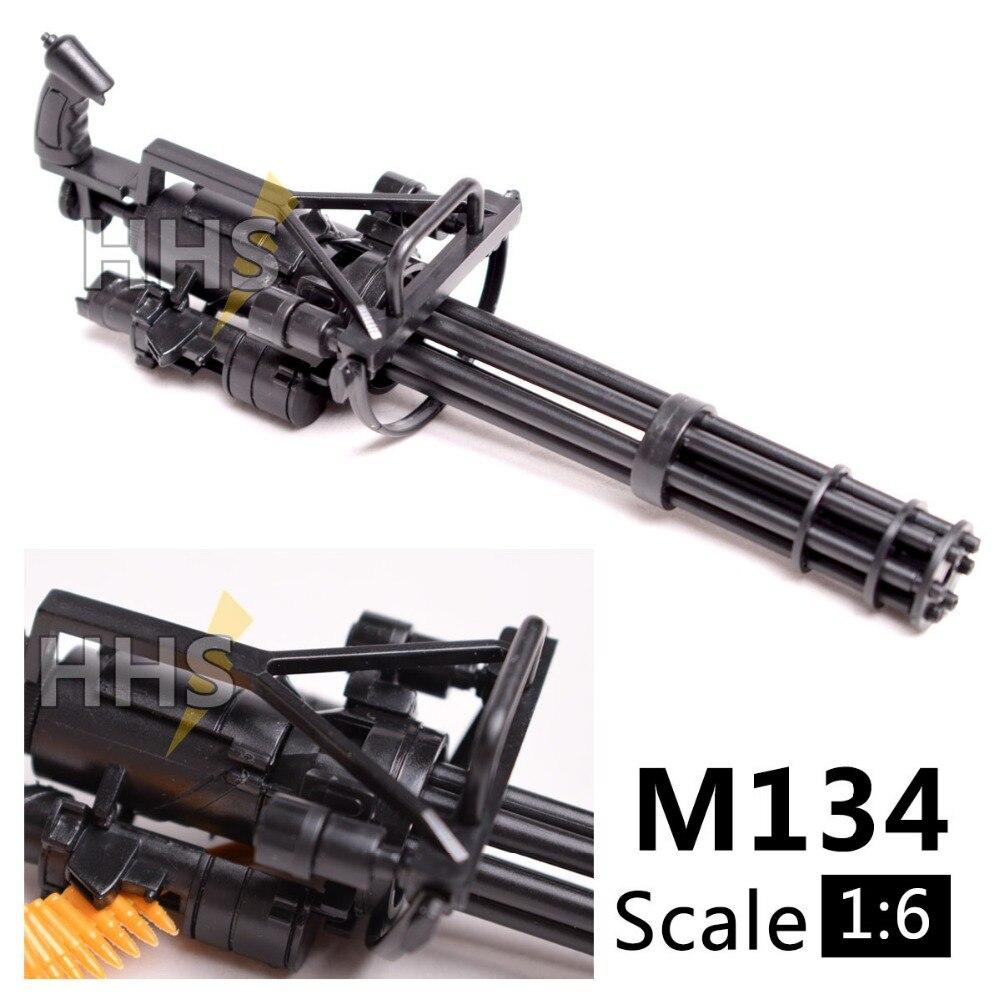1:6 1/6 Весы 12 дюймов фигурки M134 Гатлинга минигул Терминатор T800 Тяжелая машина Пистолеты + пуля ремень ...