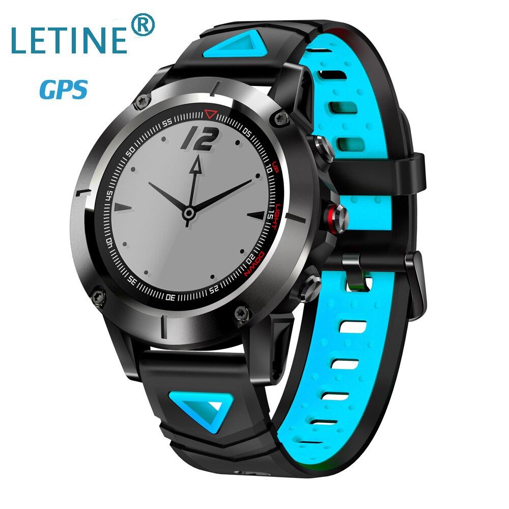 LETINE IP68 étanche G01 GPS montre intelligente hommes pression artérielle oxygène fréquence cardiaque montre-bracelet boussole montre de Sport Multiple