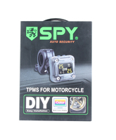 Original SPY Motorcycle Tire Pressure Monitoring System Waterproof LCD Display 2 External TPMS Sensor Easy Installation