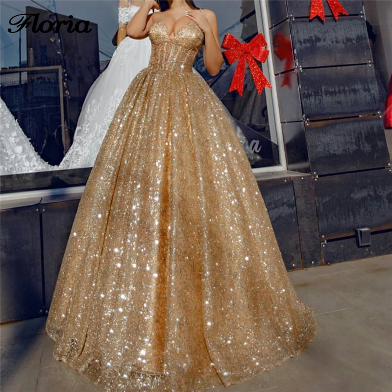 African Sparkly   Evening     Dresses   Dubai Turkish Arabic Prom Party   Dress   For Weddings Moroccan Kaftan Abendkleider Aibye Gowns 2018