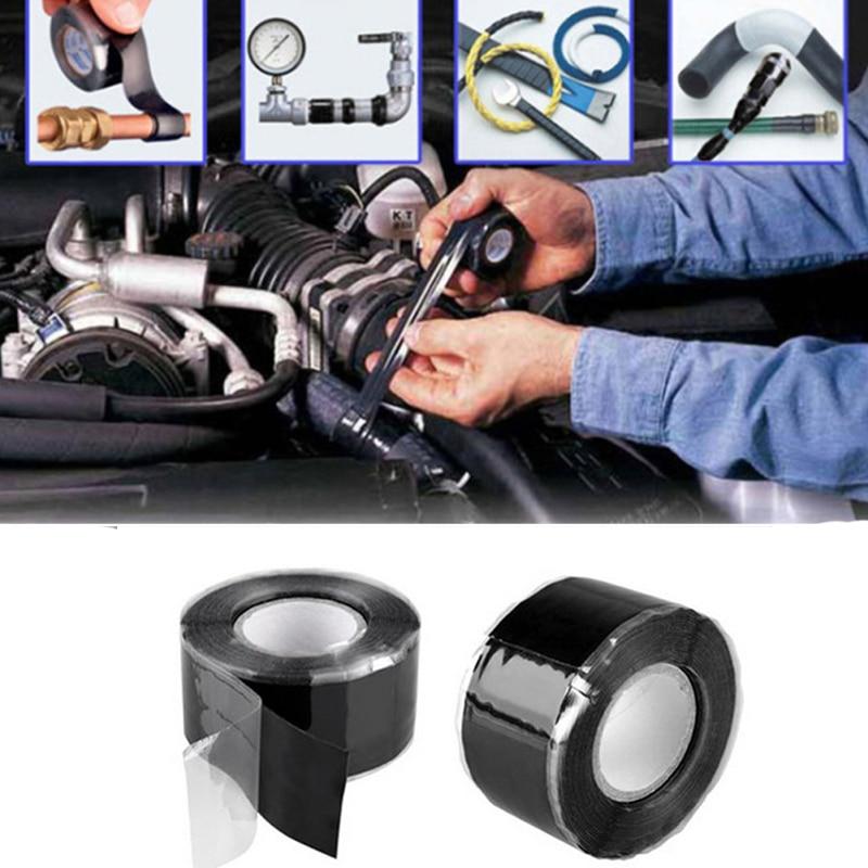1 шт. многофункциональная самоклеящаяся прочная черная резиновая силиконовая ремонтная Водонепроницаемая склеивающая лента спасательный ...
