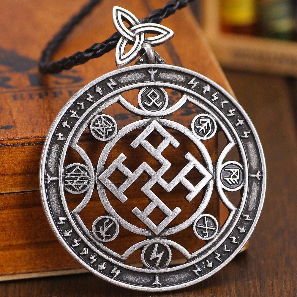 US $19 27  5pcs Slavic Amulet Spiritual Strength Totem Pendant Nordic  Viking Rune Jewelry Talisman Charm-in Pendants from Jewelry & Accessories  on